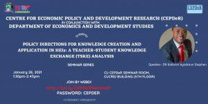 CEPDeR Seminar Series