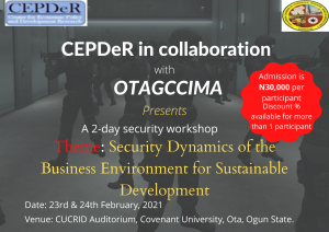 CEPDeR IN COLLABORATION WITH OTAGCCIMA PRESENTS A 2-DAY SECURITY WORKSHOP