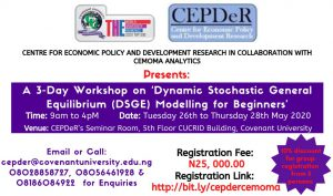 Workshop on 'Dynamic Stochastic General Equilibrium (DSGE) Modelling for Beginners'