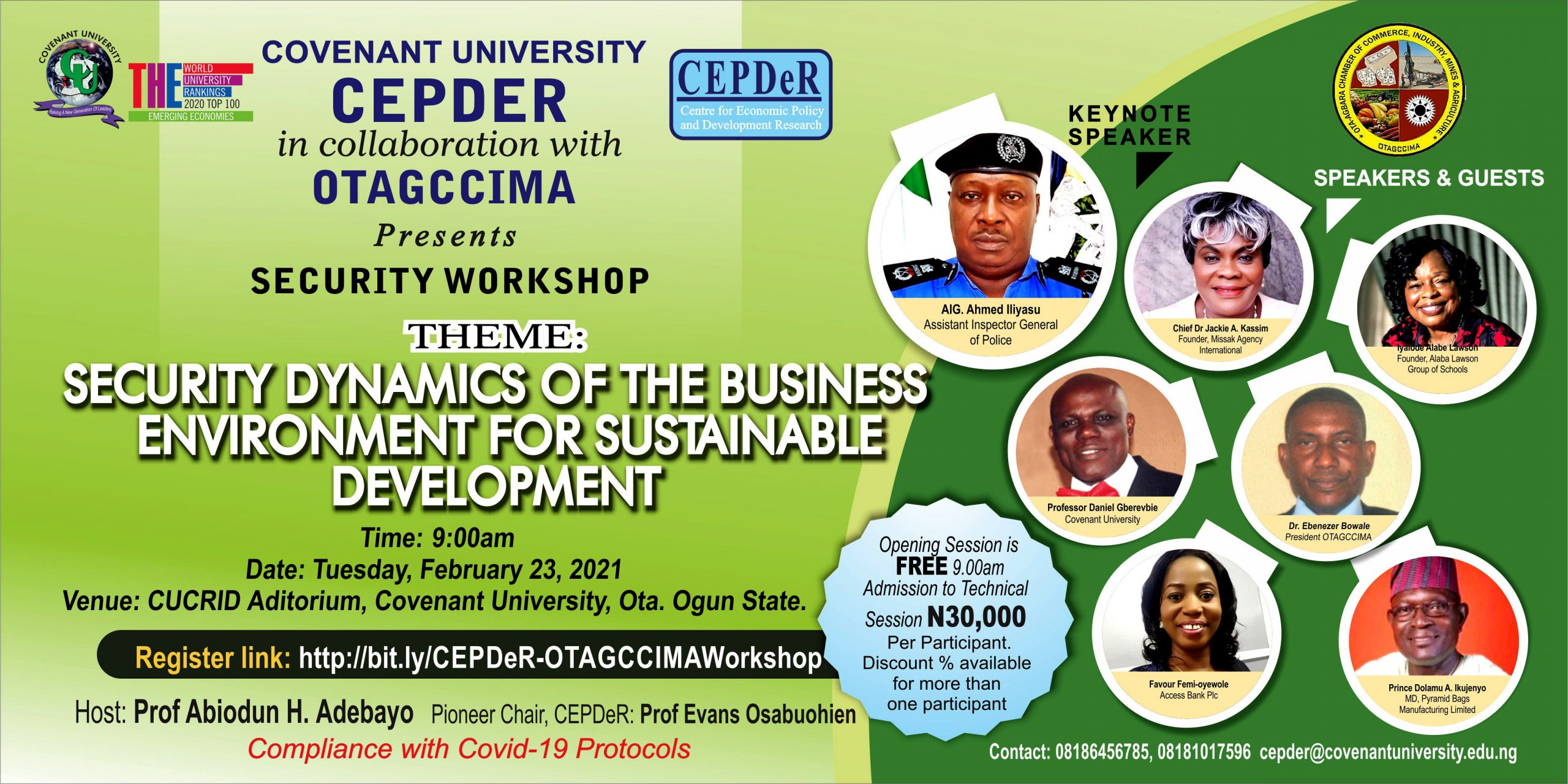 CEPDeR IN COLLABORATION WITH OTAGCCIMA PRESENTS A SECURITY WORKSHOP