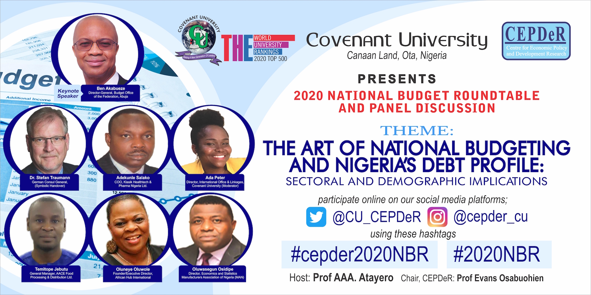 2020 National Budget Roundtable and Panel Discussion On 'The Art Of National Budgeting and Nigeria's Debt Profile: Sectoral and Demographic Implications'