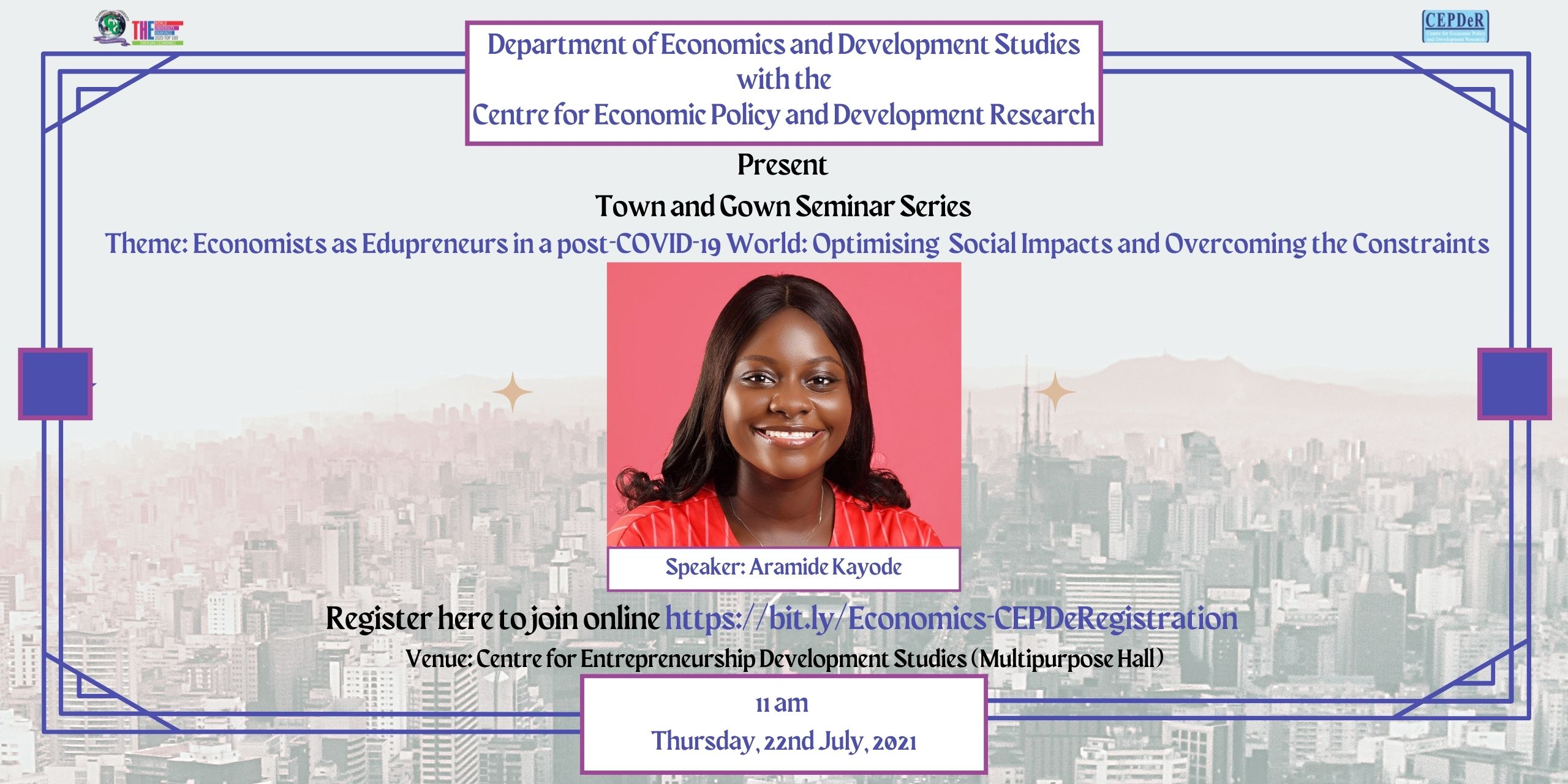 Town and Gown Seminar Series