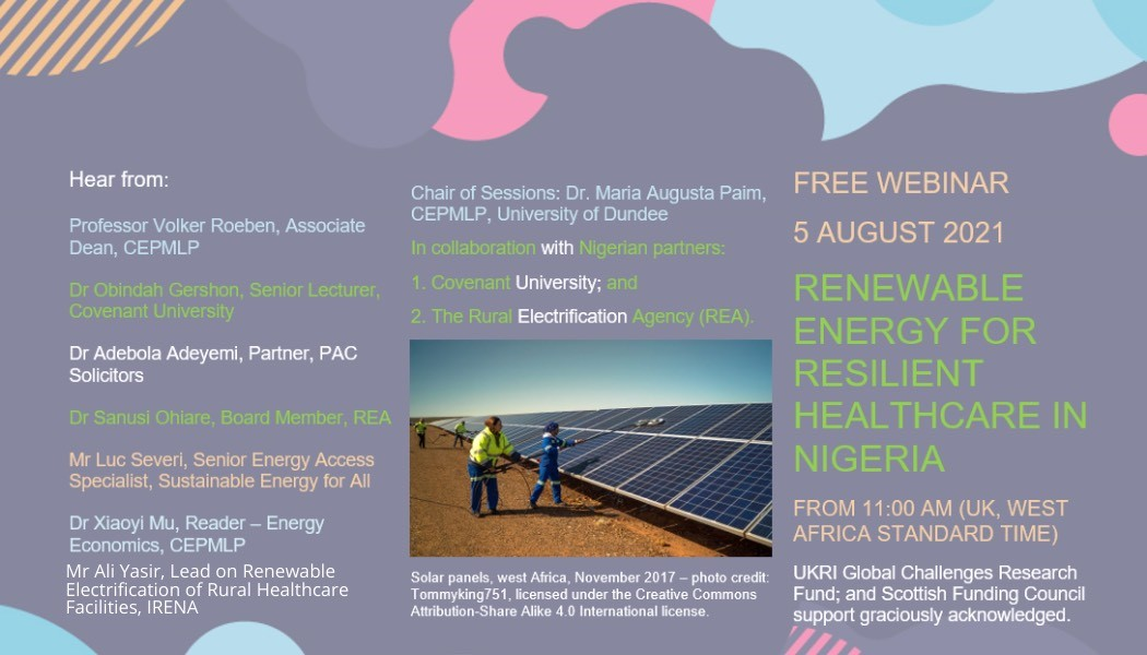 Renewable Energy for Resilient Healthcare in Nigeria